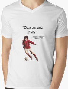George Best Mens V-Neck T-Shirt
