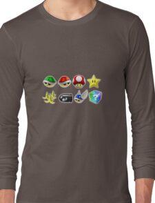 Mario Kart Power-Ups Long Sleeve T-Shirt