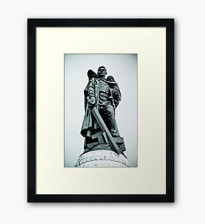 Treptower Park, Soviet war memorial. Framed Print