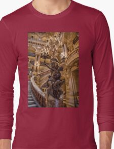 France. Paris. Opera Garnier. Chandelier. Long Sleeve T-Shirt