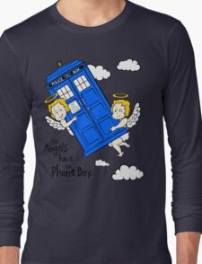 The Angels have the Phone Box - Version 2 (for light tees) Long Sleeve T-Shirt