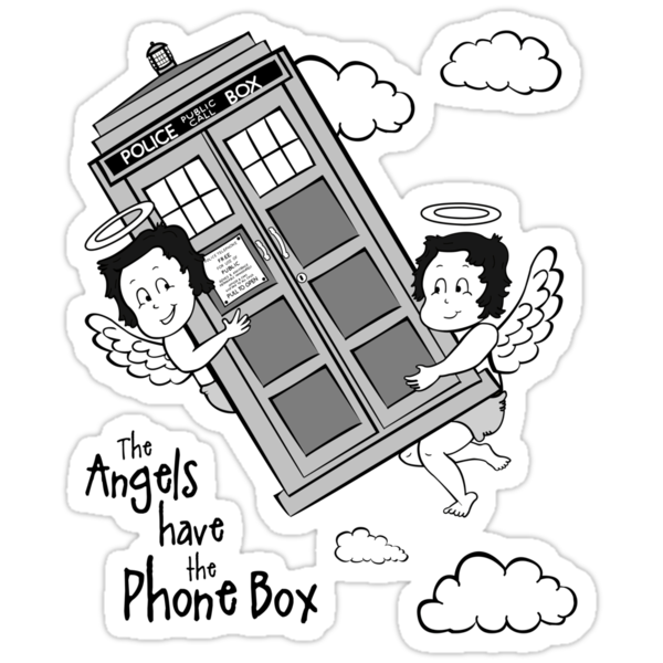 The Angels have the Phone Box - Version 3 BW (for light tees) by lemontee