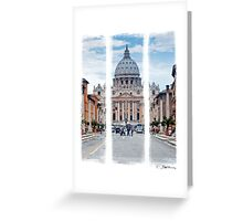 St Peter's, Rome (Triptych) Greeting Card