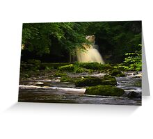 Cauldron Falls, Walden Beck, North England Greeting Card
