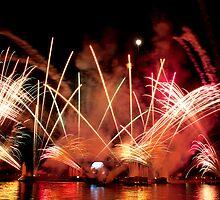 EPCOT Fireworks by Ray Chiarello