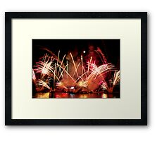 EPCOT Fireworks Framed Print