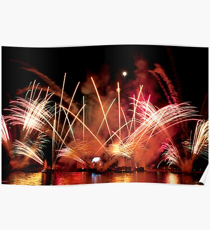 EPCOT Fireworks Poster