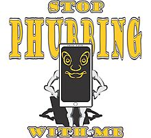 Stop Phubbing With Me - In Yellow Photographic Print