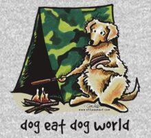 Golden Retriever Dog Eat Dog {kids} Kids Tee