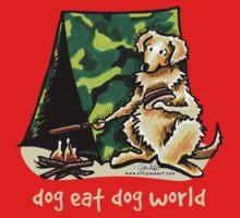 Golden Retriever Dog Eat Dog {kids, dark} Kids Clothes