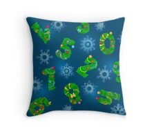Seamless pattern from numbers like fir Throw Pillow