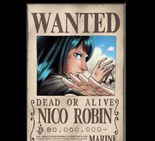 Wanted Nico Robin - One piece by Doremi972