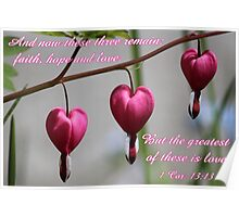 """""""The greatest of these is love"""" card Poster"""