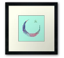 Sickle moon watercolor Framed Print