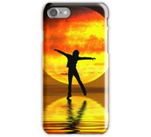 Dancing at sunset iPhone Case/Skin