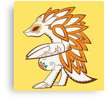 Sandslash Pokemuerto | Pokemon & Day of The Dead Mashup Canvas Print