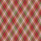 Red Orange Green Pink Plaid  by HighDesign
