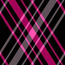 Pink and Black Plaid by HighDesign