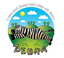 Zebra Jumps Photographic Print