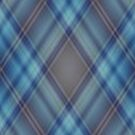 Black and Blue Diamond Plaid by HighDesign
