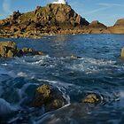 Corbiere  Lighthouse Jersey, Channel islands by Mark Nelson
