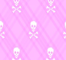 Pink and White Skull and Crossbones Plaid by HighDesign