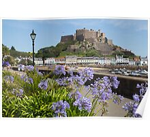Gorey Castle Jersey Channel Islands Poster