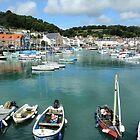 St Aubin Harbor Jersey Channel Islands by Mark Nelson