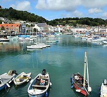St Aubin Harbor Jersey Channel Islands by Mark Nelson