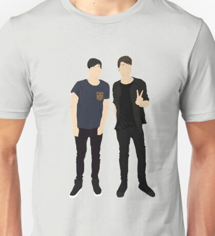 Dan and Phil Silhouettes Unisex T-Shirt