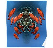 Digital Art - Underwater Poster