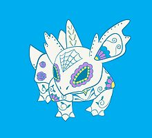 Nidorina Pokemuerto | Pokemon & Day of The Dead Mashup by abowersock