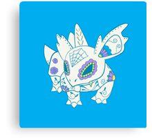 Nidorina Pokemuerto   Pokemon & Day of The Dead Mashup Canvas Print