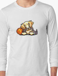 Golden Retriever Basketball Star Long Sleeve T-Shirt