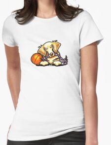 Golden Retriever Basketball Star Womens Fitted T-Shirt