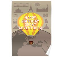 Happy Birthday Great Adventurer Poster