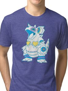 Nidoqueen Pokemuerto | Pokemon & Day of The Dead Mashup Tri-blend T-Shirt