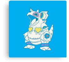 Nidoqueen Pokemuerto | Pokemon & Day of The Dead Mashup Canvas Print