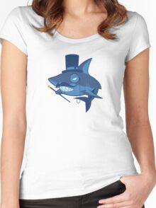 Nefarious Shark Women's Fitted Scoop T-Shirt