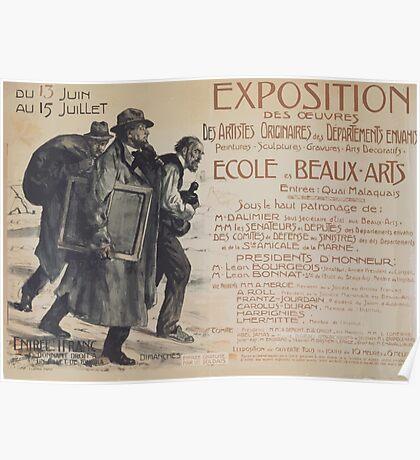 Exposition des oeuvres des artistes originaires des Départements envahis École des Beaux Arts Poster