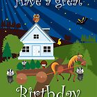The Night Badgers Birthday Card by springwoodbooks
