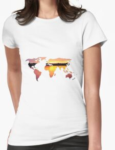 sunset world Womens Fitted T-Shirt