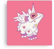 Nidorino Pokemuerto | Pokemon & Day of The Dead Mashup Canvas Print