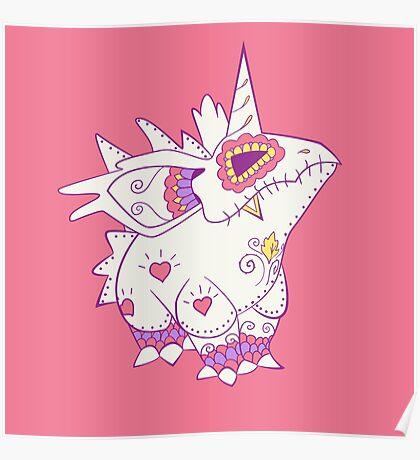 Nidorino Pokemuerto | Pokemon & Day of The Dead Mashup Poster