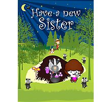 The Night Badgers New Sister Card Photographic Print