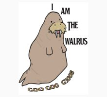 The Beatles inspired t-shirt. I am the walrus drawn on Adobe Illustrator by Zak-Karle