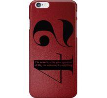42 iPhone Case/Skin