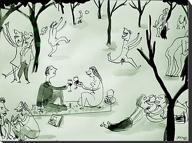 the philistines picnic by Loui  Jover