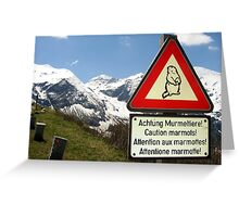 Warning Marmot! Greeting Card