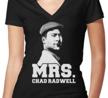 Mrs. Chad Radwell Women's Fitted V-Neck T-Shirt